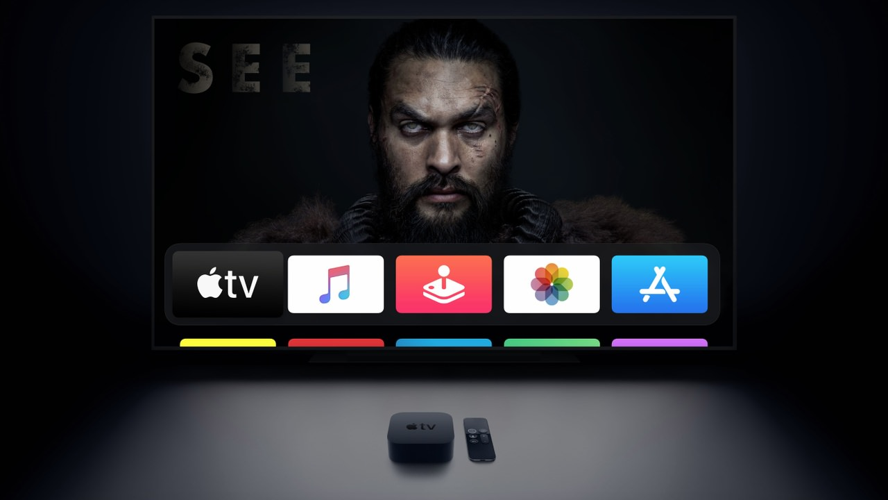 Set the color balance on the Apple TV